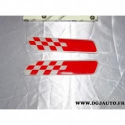 Paire baguette laterale drapeau damier rouge 50901679 pour fiat 500