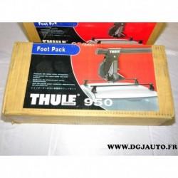 Kit pieds carrés fixation barre de toit thule 950 pour voitures sans gouttieres