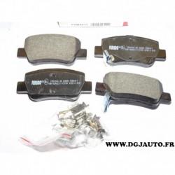 Jeux 4 plaquettes de frein arriere montage bosch FDB4411 pour toyota avensis ZRT27 ADT27