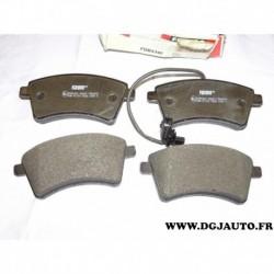 Jeux 4 plaquettes de frein avant montage TRW FDB4340 pour renault kangoo 2 partir 2008