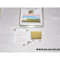 Support fixation camera de recul kitmirroirderenvoi petit modele double objectif max 5.5cm large