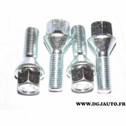 Lot 4 boulons conique chrome ecrou de roue M12x1.5 SW17 445792.01 pour opel