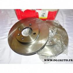 Paire de disque de frein avant ventilé 256mm diametre 8671010022 pour seat arosa cordoba ibiza 2 inca toledo volkswagen corrado