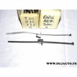 Lot 2 colsons avec agrafe fixation faisceau electrique tuyau 3D0971838A pour audi A1 A2 A3 A4 A5 A6 A7 A8 Q3 Q5 Q7 TT TTS volksw