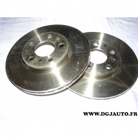Paire disque de frein avant ventilé 257mm diametre 71738144 pour peugeot 806 expert fiat scudo ulysse citroen evasion jumpy