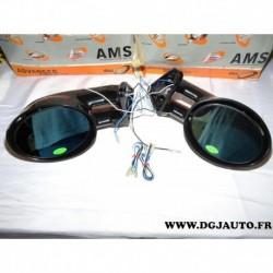 Paire retroviseur gauche + droit noir avec repetiteur clignotant TLM dectane adaptable sport tuning