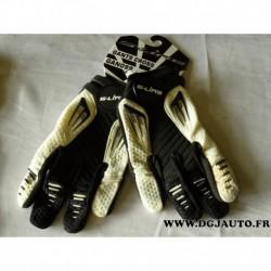 Paire gant moto cross S-line S line noir et blanc taille 7 XS gan099