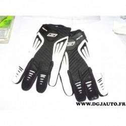 Paire gant moto cross S-line S line noir et blanc taille 10 L gan099
