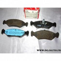 Jeux 4 plaquettes de frein avant montage ATE GDB953 pour ford fiesta 3 4
