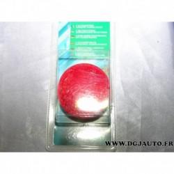 Blister 2 catadioptres reflecteur rond rouge autocollant 001782 pour remorque