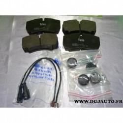 Jeux 4 plaquettes de frein arriere montage brembo avec temoin usure 541705 pour iveco daily 3 4 5 III IV V