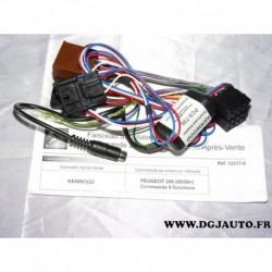 Faisceau module interface commande au volant autoradio kenwood 6 fonctions 12217 pour peugeot 206 partir 08 1999