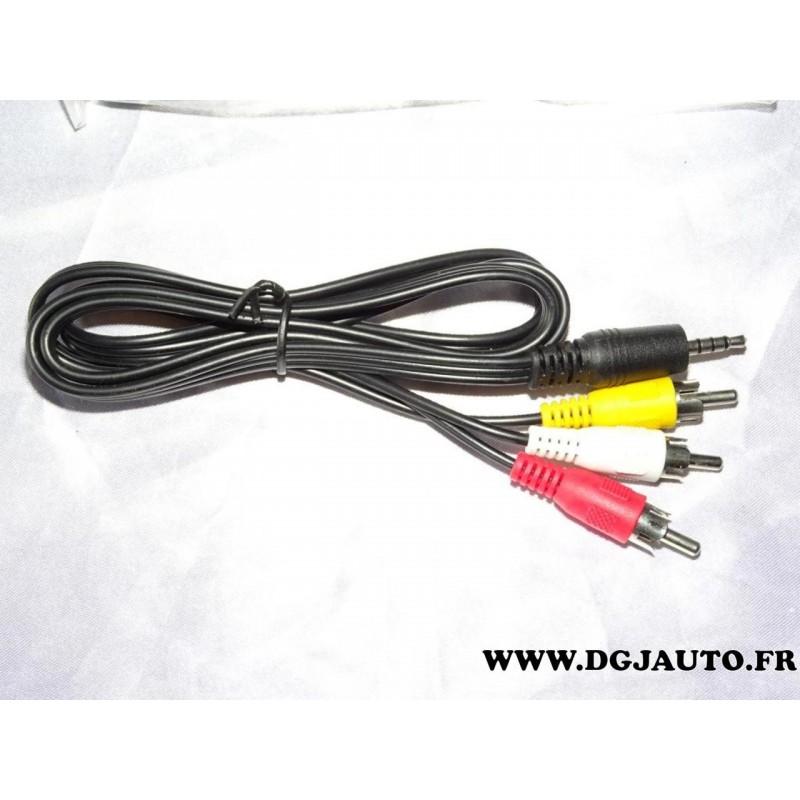 cable faisceau electrique branchement 3 rca et 1 prise. Black Bedroom Furniture Sets. Home Design Ideas