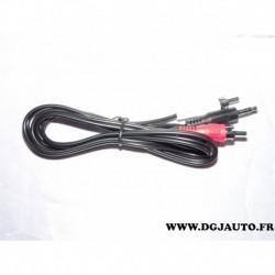 Cable faisceau electrique branchement 2 RCA et 1 prise jack