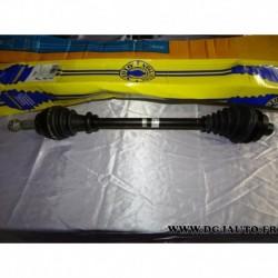 Cardan transmission avant droit 21/23 cannelures T255 pour renault clio 1.1 1.2 essence boite vitesse JB4/5