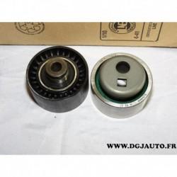 Lot 2 galets tendeur + enrouleur courroie distribution E118418 pour citroen AX peugeot 106 rover 114 1.4D 1.4 D diesel