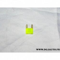 Mini fusible jaune 20A 6500.P1 pour peugeot 107 206 207 208 301 307 308 406 407 508 607 807 1007 3008 5008 expert partner travel