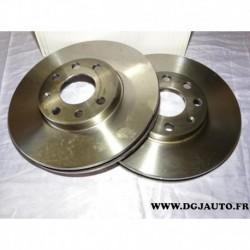 Paire disque de frein ventilé 256mm diametre 1606314680 pour opel astra F G zafira A