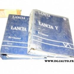 Lot 2 classeurs documentation fiche technique interne pour lancia Y ypsilon total 5Kg