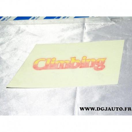 Autocollant decoration climbing 46849169 pour fiat panda 4x4 de 1991 à 2003 finition climbing