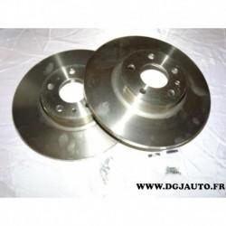 Paire disque de frein avant plein 281mm 71772247 pour alfa romeo 147 156