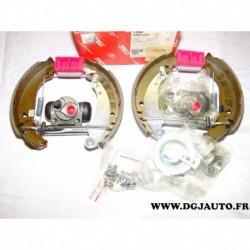 Kit frein arriere prémonté 180x30mm montage bendix GSK1260 pour peugeot 206 206+ 1.1 1.4 1.6 1.4HDI