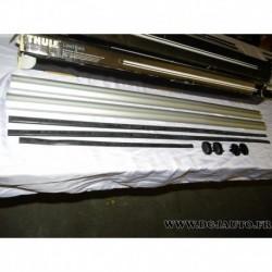 Paire barre de toit aluminium avec bouchons (juste les barres) 120cm de long thule 861