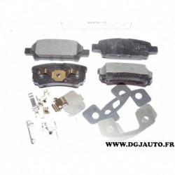 Jeux 4 plaquettes de frein arriere montage akebono 05191271AC pour jeep compass patriot dodge caliber avenger mitsubishi lancer