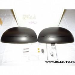 Paire coque de retroviseur noir ceramique 50926891 pour fiat 500L 500 L à partir 2012