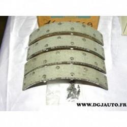 Jeux 4 garnitures machoire de frein arriere à riveter (inclus) 1605569 pour opel kadett D E corsa A B tigra A astra F