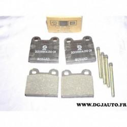 Jeux 4 plaquettes de frein montage teves avec coulisseaux 90005224* pour opel kadett B alfa romeo giulia GT GTA DAF 55 66 simca