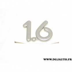 "Logo motif monogramme embleme badge ""1.6"" 90191228 pour opel kadett E"