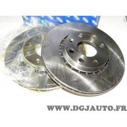 Paire disques de frein avant 256mm diametre ventilé 9004576J pour opel corsa B tigra A vectra A kadett E astra F ascona C