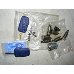 kit serrures barillets de portes avec neiman et 2 clés telecommande fiat stilo de 2001 à 2003 fermeture centralisée